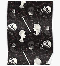 Shakespearean pattern - Hamlet Poster