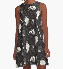 Shakespearean pattern - Hamlet A-Line Dress