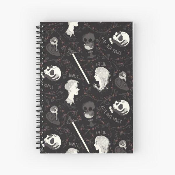 Shakespearean pattern - Hamlet Spiral Notebook