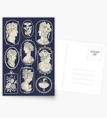 Cameos - blue Postcards