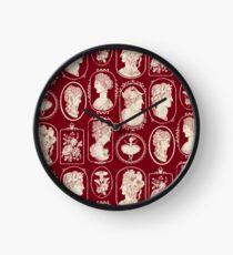 Cameos - red Clock