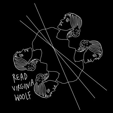 Read Virginia Woolf! Stickers by dinosaursforall