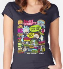Rick Morty  Women's Fitted Scoop T-Shirt