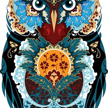 Blue Owl (arabesque) by fazlicakir