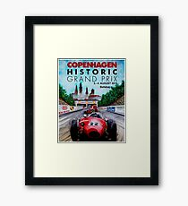 COPENHAGEN HISTORIC: Grand Prix Auto Advertising Print Framed Print