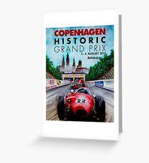 COPENHAGEN HISTORIC: Grand Prix Auto Advertising Print Greeting Card