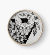 Reloj Hairless Sphinx Cat Flower Portrait