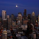 """""""Moon over Seattle"""" by David Lee Thompson"""