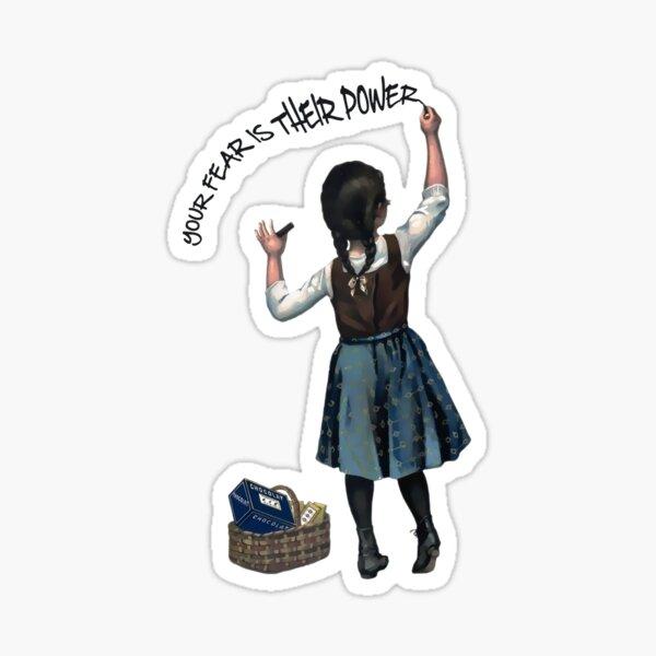 Banksy #MeToo Alexandria Ocasio Cortez Sticker