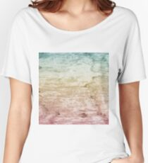 Grunge retro vintage wooden texture, vector background Women's Relaxed Fit T-Shirt