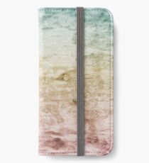 Grunge retro vintage wooden texture, vector background iPhone Wallet