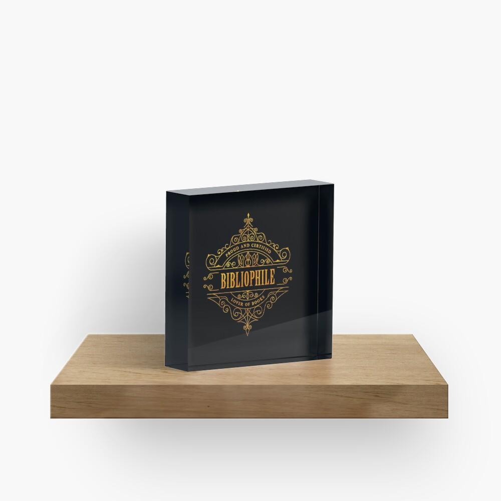 Gold Bibliophile - black Acrylic Block