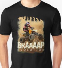 Motocross ATV Quad Bike BRAP Evolution Unisex T-Shirt