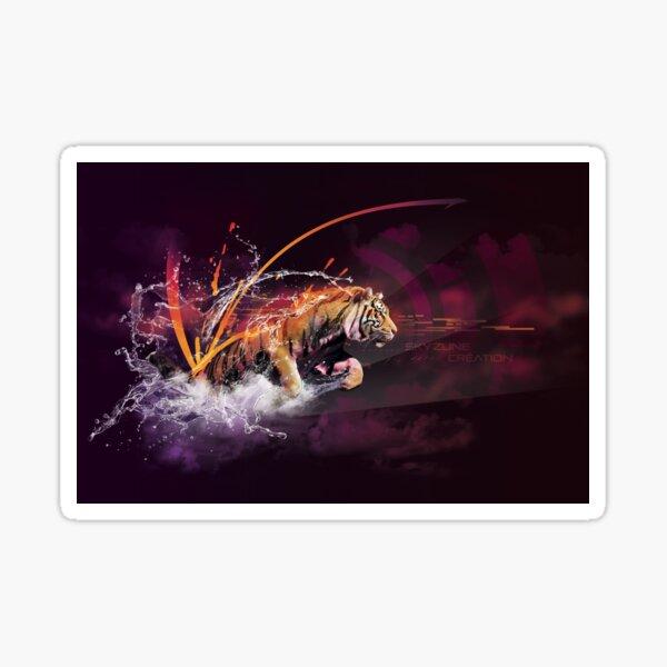 TIGER SPLASH by Skyzune ART Sticker