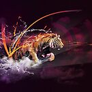 « TIGER SPLASH by Skyzune ART » par SkyzuneART