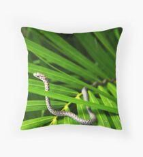 """Snake on a Palm"" Throw Pillow"