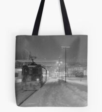 Snow train Tote Bag
