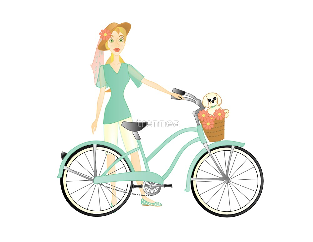 Melissa and her bike by trennea