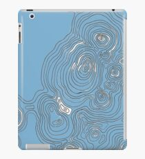 Topographic Blue iPad Case/Skin