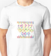 Happy Friendship Day Lettering T-Shirt