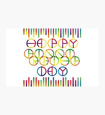 Happy Friendship Day Lettering Photographic Print