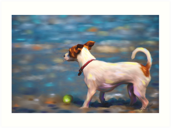 Jack Russell Terrier at the Beach by Michelle Wrighton