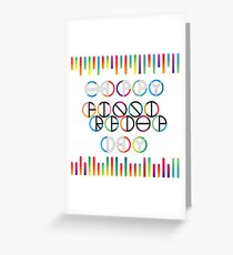 Happy Friendship Day Lettering Greeting Card
