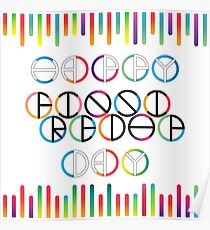 Happy Friendship Day Lettering Poster