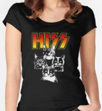 Hiss Kiss Cats Kittens Rock Women's Fitted Scoop T-Shirt