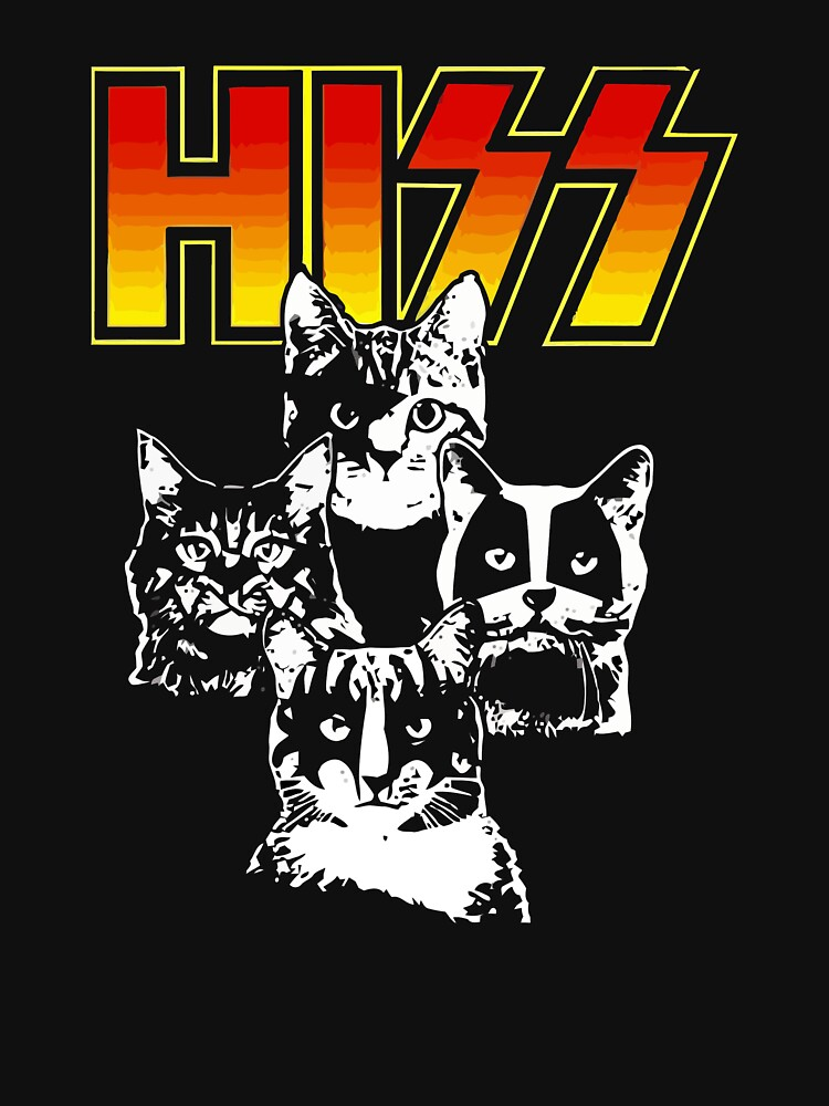 Hiss Kiss Cats Kittens Rock | Unisex T-Shirt