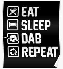 Póster Eat Sleep Dab Repeat
