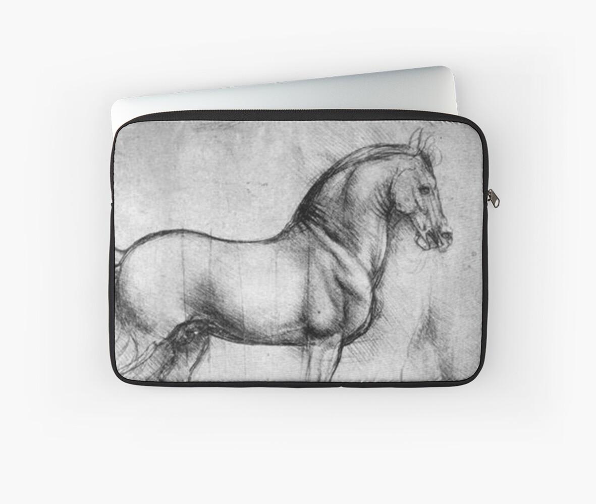 LEONARDO, PFERD, Zeichnung, Leonardo da Vinci, Studie der Pferde ...