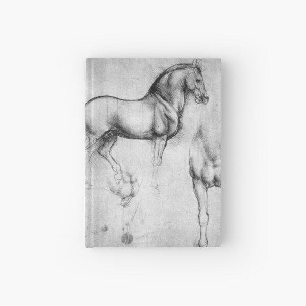 LEONARDO. HORSE Drawing. Leonardo da Vinci. Study of Horses. Hardcover Journal