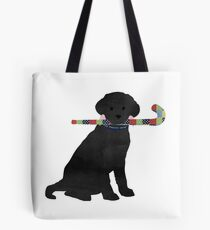 Black Lab Retriever Field Hockey Dog Tote Bag