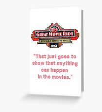 The Great Movie Ride Greeting Card