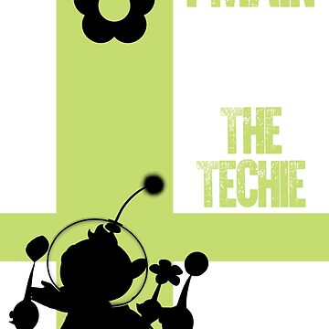 The Techie (Black) by sm4shshorts