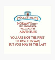 Maelstrom from Epcot Norway Art Print