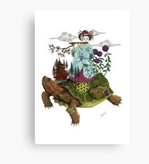 Psychedelic Japanse Turtle Canvas Print