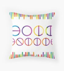 Holika festival vector lettering in color transition trend Throw Pillow