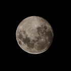 Waxing Gibbous Moon by rom01