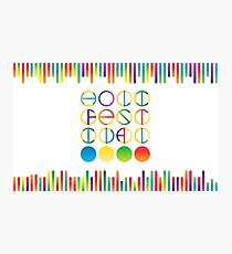 Holi festival vector lettering in color transition trend Photographic Print