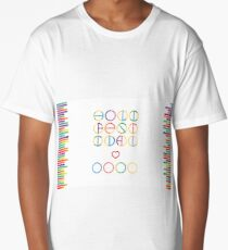 Holika festival vector lettering in color transition trend Long T-Shirt