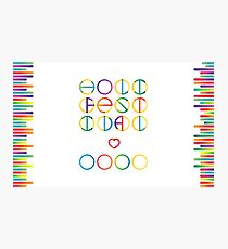Holika festival vector lettering in color transition trend Photographic Print