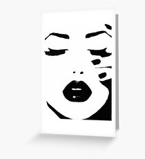 Woman, Girl, Lips print, Fashion art, Fashion print, Scandinavian art, Modern art, Wall art, Print, Minimalistic, Modern Greeting Card
