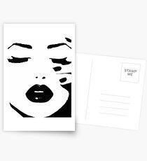 Woman, Girl, Lips print, Fashion art, Fashion print, Scandinavian art, Modern art, Wall art, Print, Minimalistic, Modern Postcards