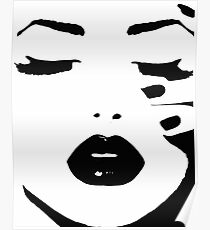 Woman, Girl, Lips print, Fashion art, Fashion print, Scandinavian art, Modern art, Wall art, Print, Minimalistic, Modern Poster