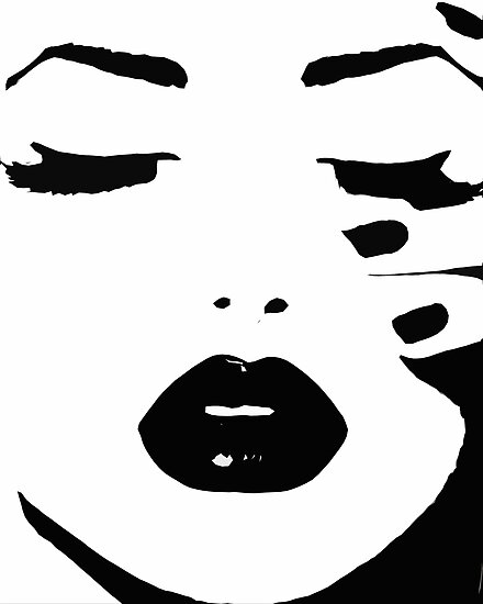 Woman, Girl, Lips print, Fashion art, Fashion print, Scandinavian art, Modern art, Wall art, Print, Minimalistic, Modern by Julia Emelianteva