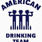 American Drinking Team (Booze / Beer / Alcohol / Navy) by MrFaulbaum