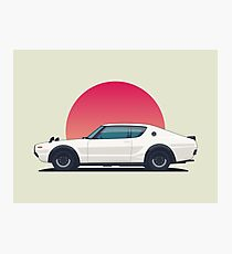 Nissan Skyline GT-R C110 - Sunset White Horz Photographic Print