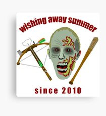 Zombie Wishing Away Summer Since 2010 Canvas Print